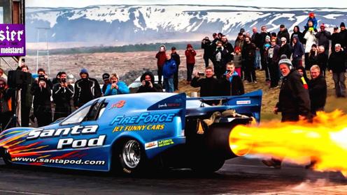 安装了喷气引擎的10辆疯狂汽车,让你知道什么是贴地飞行的火箭