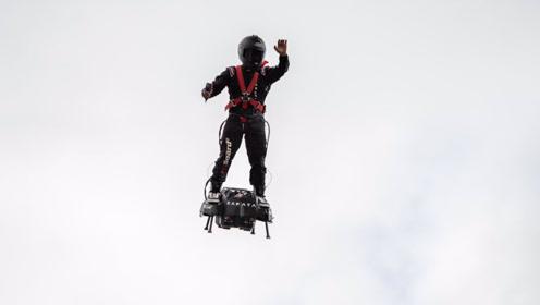 悬浮滑板飞越英吉利海峡,全程用时22分钟