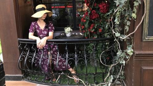 试穿法式风情连衣裙,做一个优雅的美女子