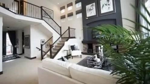张杰谢娜的家,极简黑白灰,风格充满艺术格调