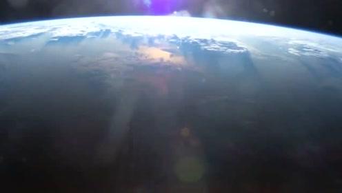 国际空间站上看地球的样子,画面十分震撼又美丽!