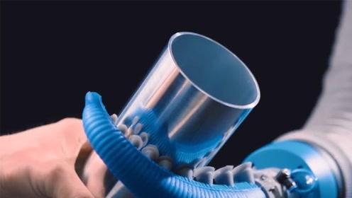 未来的机器人会是章鱼吗?这机械臂什么都能干,还带吸盘