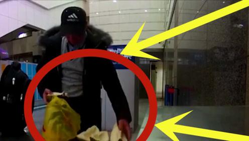 男子机场徒手掰榴莲,分分钟吃掉,安检员爆出其中小秘密!