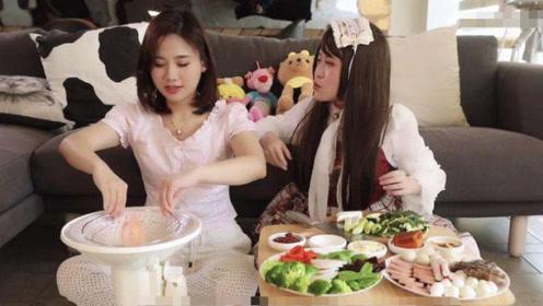 密子君为小野第一次下厨,打开冰箱的瞬间,网友:羡慕了!