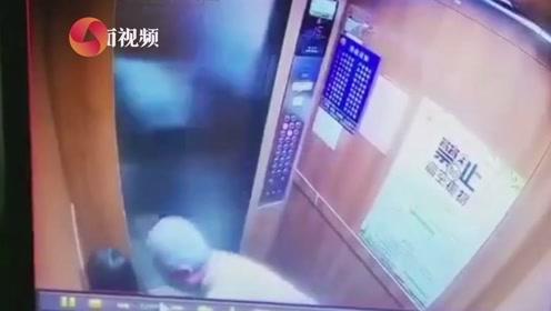 南宁一老人疑猥亵女童 在电梯内又抱又亲 警方已介入调查