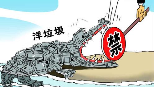 """上半年我国""""洋垃圾""""进口下降近三成"""