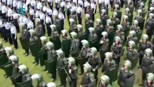 超燃!深圳举行公安武警大练兵 呼吁暴徒:停止暴力 回头是岸
