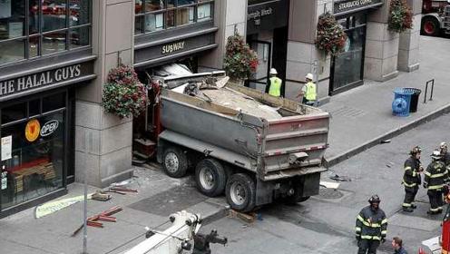 西雅图一卡车失控整车撞进赛百味,致5人伤