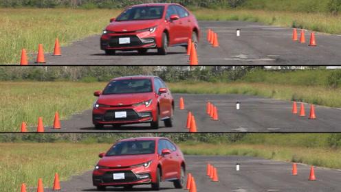 2019款美版丰田卡罗拉做一个麋鹿测试,看完买不买自己定!