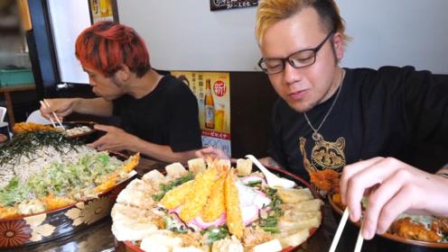 日本大胃王挑战吃45份炸蔬菜,吃到老板怀疑人生?网友:厉害了