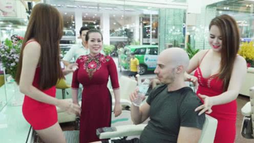 为啥越南理发店一次100,男游客排长队也要去?看完羡慕了