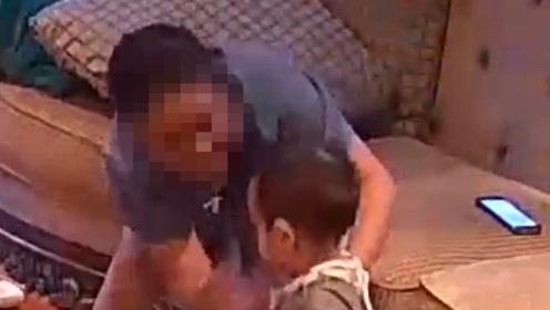 温州宝妈打开监控,保姆正掌掴1岁儿子