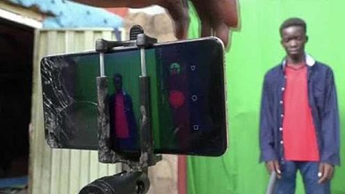 非洲青年手机拍出20部科幻片,立志拍出尼日利亚最优科幻电影
