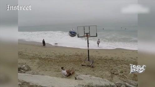 这种投篮方式已经不是篮球运动了,而是杂技