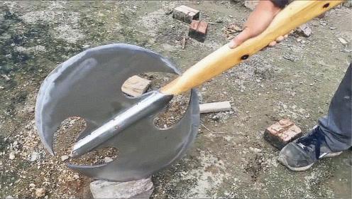 锈迹斑斑的斧头竟值500美元,老外修整一番,发现成品太惊艳了