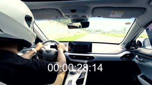 电动车赛道体验,吉利几何A圈速跟1.5T宝马mini几乎相同