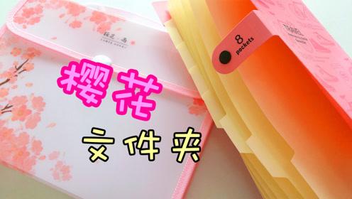 樱花风琴文件夹,每页都像樱花一样轻轻地夹住,学习也能少女心!