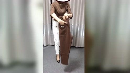 新款休闲女士老爹裤,今年的流行,从开春一直到入秋都没有变呀