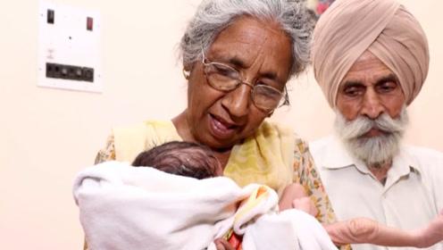 73岁印度老奶奶怀孕生子,只为争夺遗产,要钱不要命了