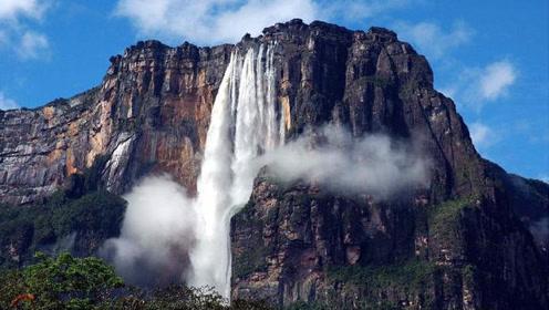 """""""世界尽头""""的山峰,一年雨水不断,平坦的山顶却形成最大的瀑布"""