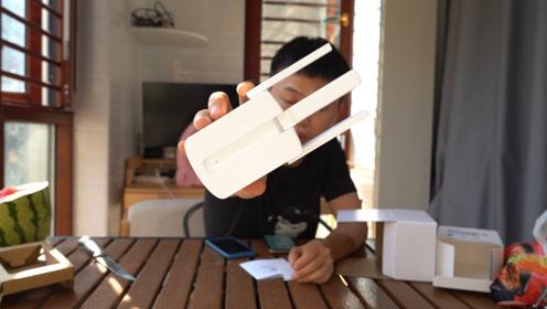 开箱测评wifi信号放大器,不再担心房间信号差的问题了