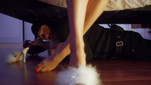两个小贼闯入豪宅盗窃,偷藏在床底,无意中发现了女主人的秘密