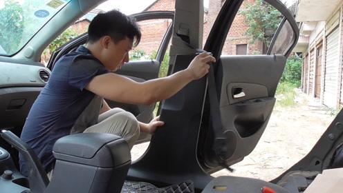 把科鲁兹水泡车内饰板清洗干净后,再重新安装车内内饰
