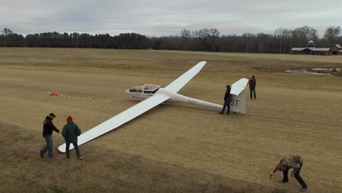 世界最大的无动力滑翔飞机,起飞方式才是真的牛,长见识了!
