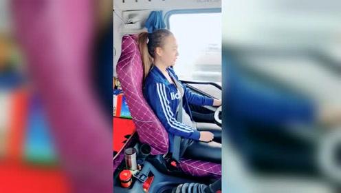 女司机没配音乐的原声视频