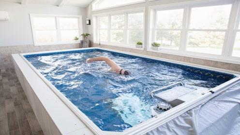 黑科技游泳池,永远游不到尽头,水温四季如春
