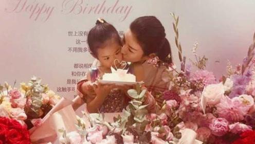 黄奕获女儿为其庆生,母女俩亲密互动温馨有爱,铛铛气质不输超模