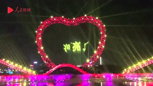 黄河亮了!宁夏银川向新中国成立70周年献礼