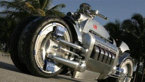 世界上最重的摩托车,轻松压扁一辆汽车,还装上了火车离合器