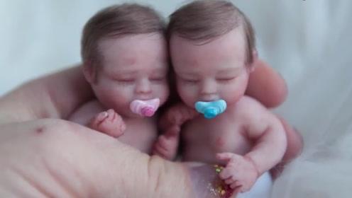 美女老外每日医院观察新生儿,为打造全新科技硅胶婴儿,一眼上当