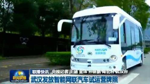 武汉发放智能网联汽车试运营牌照