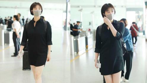 蒋欣刚瘦下来又绷不住?穿衬衫裙现出水桶腰?