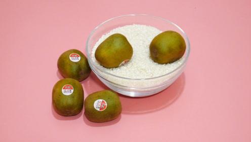 没吃完的猕猴桃,把它放在大米里,居然还有这样的用处,涨知识了