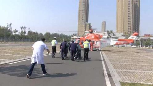 客货相撞伤者全身多处骨折,直升机空降送医缩短1小时