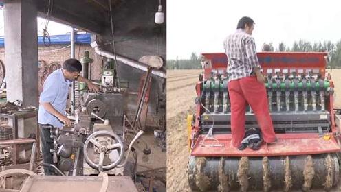 商河蒜农自制大蒜播种机,1台机器能顶80人,想融资创业
