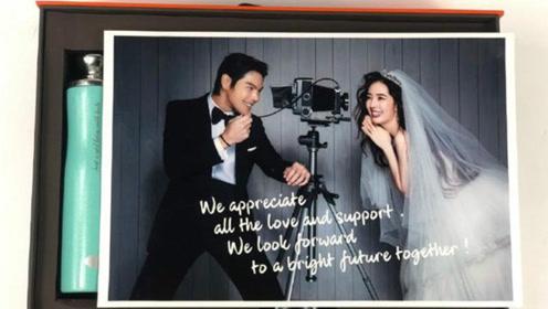 向佐郭碧婷婚照及伴手礼公开,新娘婚戒超闪,是豪门牌面了