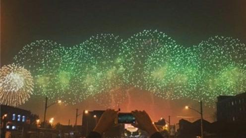 壮观!庆祝活动最后一次演练,盛大烟花照亮北京夜空