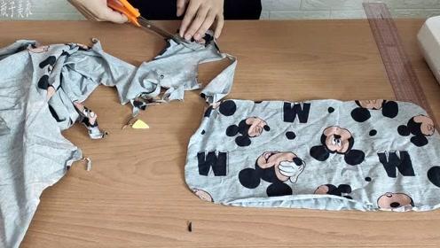 家里不用的布头还能做这个,塞进棉花大人小孩都能用,超级简单