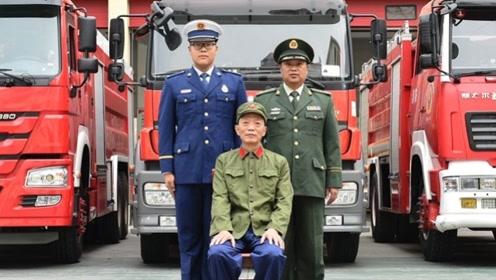 与新中国同梦 三代消防人跨越数十年 穿越生死火线