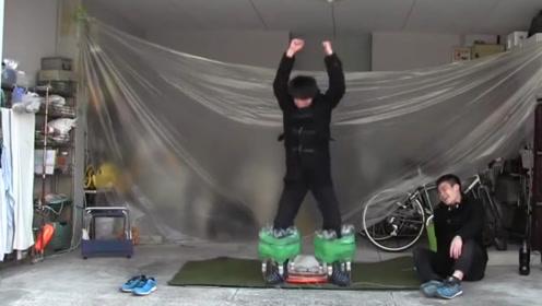 小伙自制火箭飞升鞋,启动之后还真能飞起?加以改造未来可应用