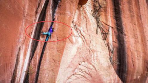 瑞士女教师,挑战云南305米高垂直裂缝,实拍全过程,太帅了!