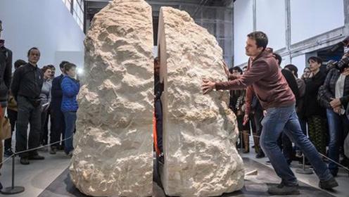 老外作死将自己封在巨石中,在里面待8天,打开后众人不淡定了