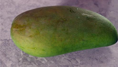 吃芒果的正确方法,不要再傻傻的剥皮!方法简单不脏手,不流汁