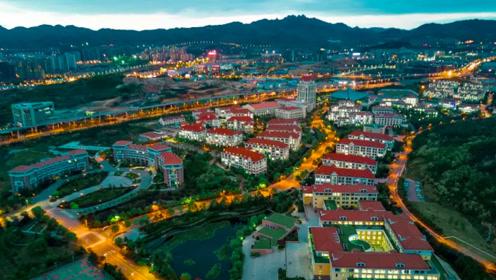 航拍下的中国海洋大学,欧式校园风格仿佛置身童话世界