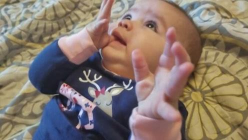 可爱!6个月大的宝宝说话,好像有好多秘密要告訴你一样
