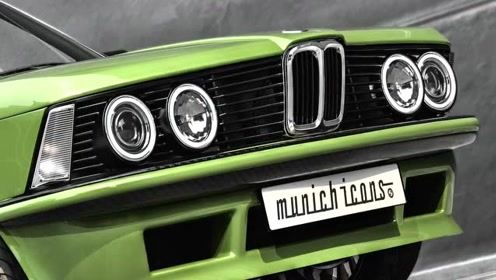 宝马经典老车BMW323i四眼小鼻子的老宝马